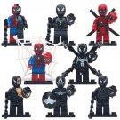 New Venom Anti-Venom Spiderman Captain American Minifigures Compatible Lego Marvel Hero
