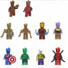 Groot Iron Man Groot Captain America Minifigures Compatible Lego Groot Minifigure
