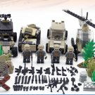 American Military Base in Africa Navy Seal Squad Blackhawks Helicopter Fit Lego American Soliders