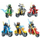6pcs Phantom Ninjago Moto Rider Jay ILoyd Minifigures Compatible Lego