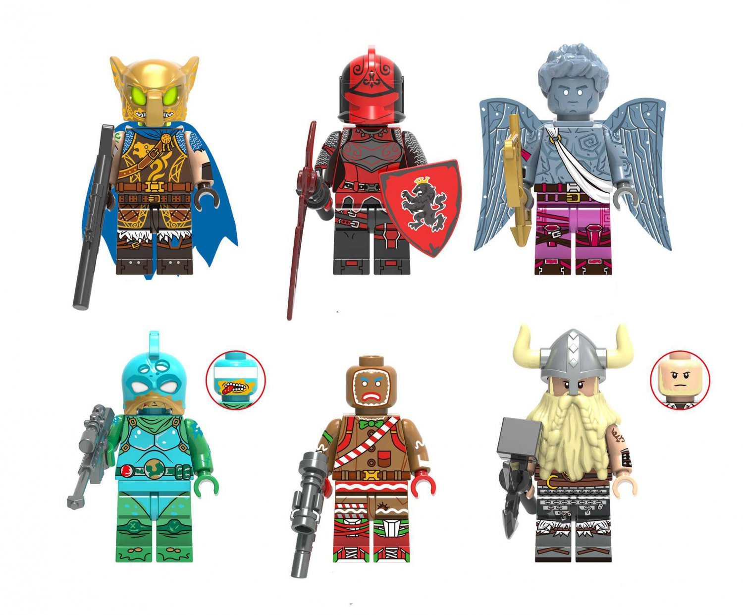 Fortlegend Battle Hound Red Knight Magnus Minifigures Lego Compatible Game Building Toys