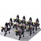 King Arthur Black Skull Death Trooper Kinghts Compatible Lego Medieval Castle