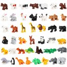 43pcs Farm Animal City Zoo Lion Elephant Whale Hipo Minifigures Compatible Lego