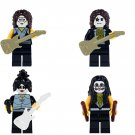 Kiss Band Tommy Thayer Paul Stanley Gene Simmons Eric Singer Minifigures Lego Fit
