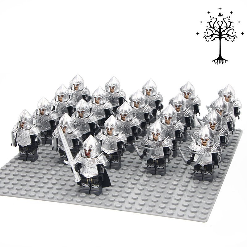 Custom Lord of the Rings Silver Sword Gondor Army Soldiers Compatible Lego