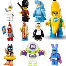 Minifigures Series 18 19 Shark Guy Penguin Man Rocket Batman Compatible Lego