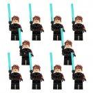 10pcs Star Wars Anakin Skywalker Minifigures Compatible Lego