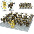 21pcs Egyptian Pharaoh Guards Viking Warrior Trooper Compatible Lego