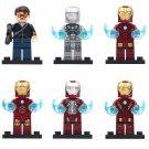Custom Tony Stark Mk 2 3 4 5 8 Ironman Minifigures Compatible Lego