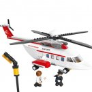 Custom Private Helicopter Building Toy Compatible Lego City Sets