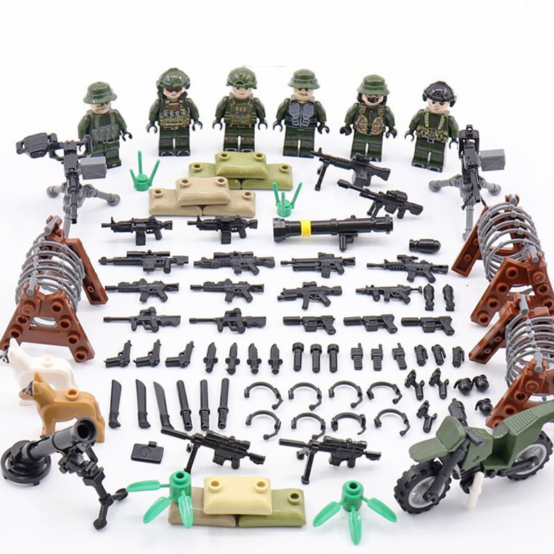 2019 American Soldiers Minifigures Compatible Lego WW2 Soldiers