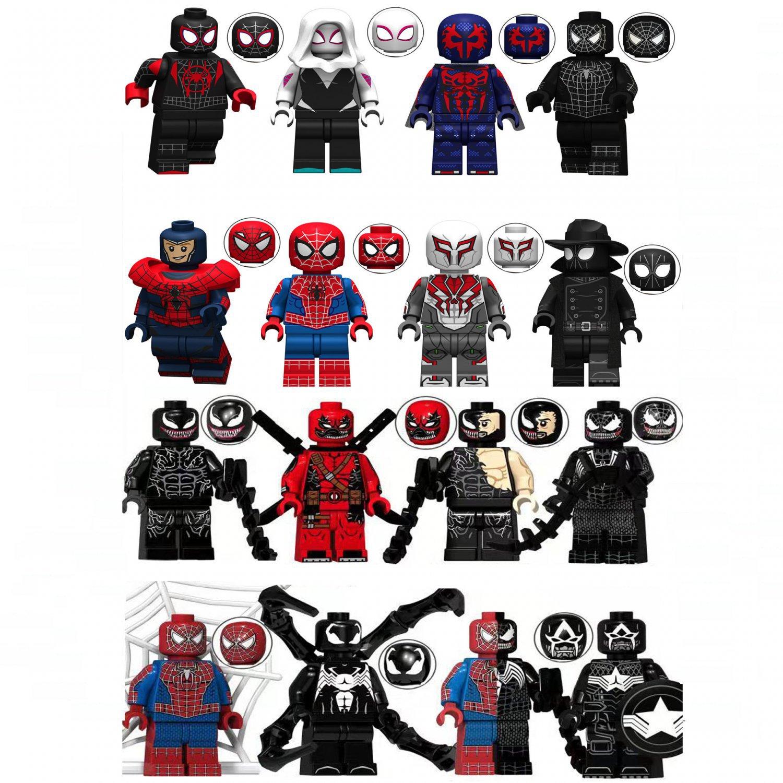 2019 New Venom Riot  Spiderman Minifigures Compatible Lego