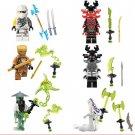 Ninja Minifigures of Jay Cole WU Bricks Built Toy Compatible Lego Ninja