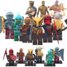 6pcs Royal Battle Hound Red Knight Magnus Minifigures Fit Lego Fortnite Sets