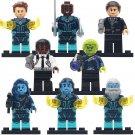 Marvel  Marvel Nick Fury Skrull Yon Rogg Minn Erva Minifigures Lego Fit