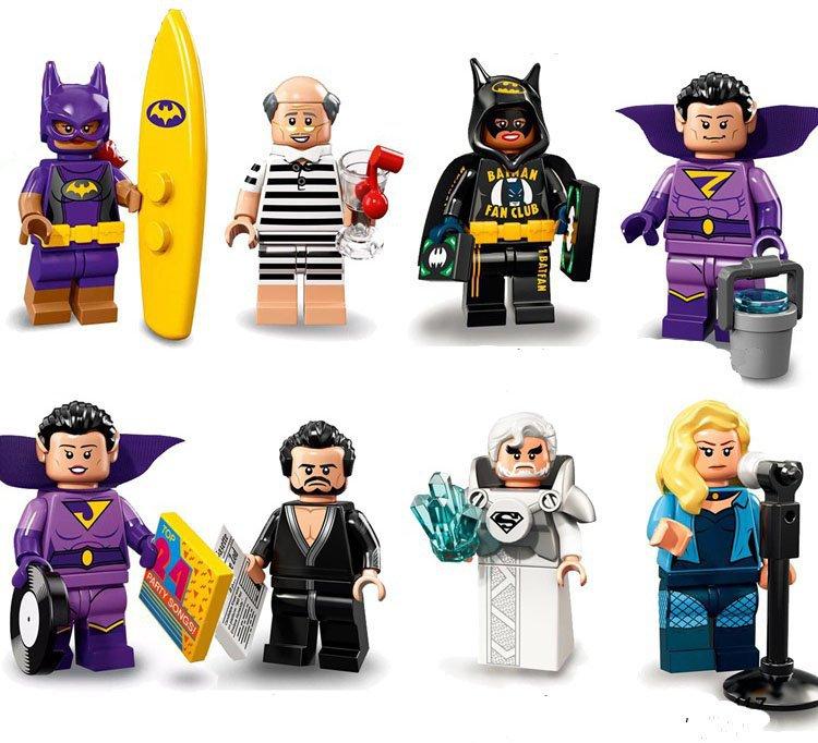 DC Justice League Batman Batgirl Black Canary Minifigures Compatible Lego