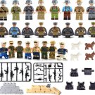 Pacific War American Japanese Chinese Minifigures Fit Lego WW2 Soldiers