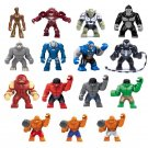 15pcs Big Super Heroes Groot Venom Thing Minifigures Lego Compatible Toy