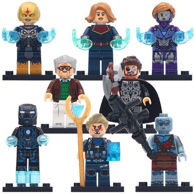 Captain Marvel Nova Korg Ironman Thor Minifigures Compatible Lego Captain Marvel