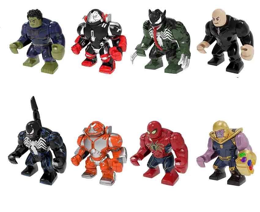Kingpin Venom Hulk War Machine Thanos Spiderman Marvel Big Figure Lego Fit