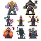 Marvel Avengers Endgame Thanos Hulk Spiderman Doctor Strange Thor Minifigures Fit Lego