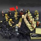 12pcs Korean War American Trooper vs Chinese Army Compatible Lego Soldiers