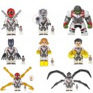 Marvel Universe Deadpool Hulk Spiderman Venom Antman Black Widow Panther Minifigures Lego Fit