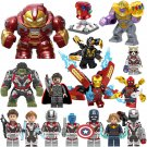 Marvel Universe Avengers Infinity Endgame Minifigures Ironman Hulk Antman Spiderman Thanos Lego Fit