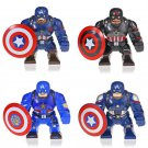 4pcs Marvel Captain America Big Figures Compatible Lego