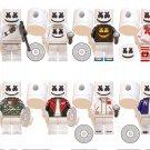 8pcs Fortnite Marshmello Minifigures Compatible Lego