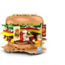 City Hamburber Fast Good Restaurant Building Toy Compatible Lego