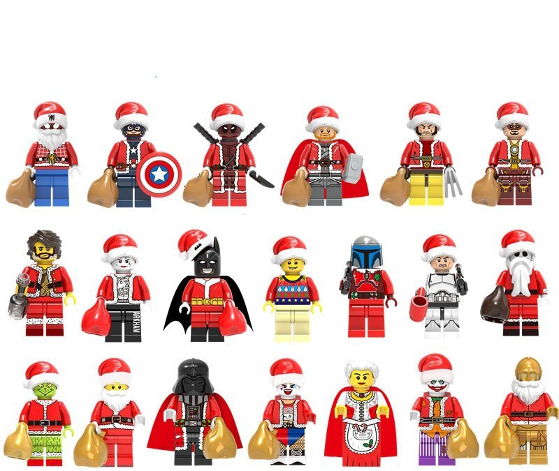 Christmas Santa Claus DC Marvel Universe Superhero Star Wars Minfigures Compatible Lego