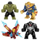 Marvel Thanos Hulk Ironman Venom Figure Compatible Lego Marvel Hero