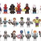 Marvel Avengers Endgame Spiderman Into Verse Minifigures Lego Compatible