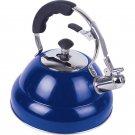 Chef's Secret® 2.6 liter Gloss Blue Stainless Steel Tea Kettle w/ Copper Capsule Bottom