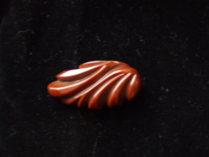 Dress Clip BAKELITE Chocolate color