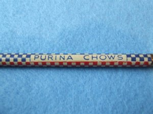 "Wood Pencil Advertising PURINA CHOWS"" Storm Lake, Iowa"