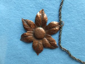 Necklace Copper flower