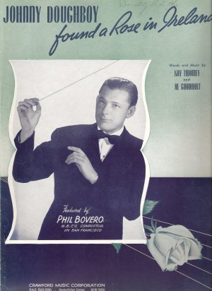 """Sheet Music """"Johnny Doughboy found a Rose in Ireland"""""""