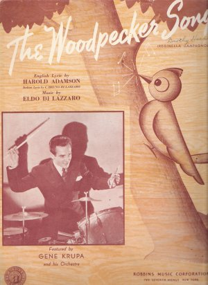 """Sheet Music """"The Woodpecker Song""""  Copyright 1939"""