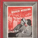 "Sheet Music ""BLUE HAWAII"" Bing Crosby from the Paramount Picture WAIKIKI WEDDING"