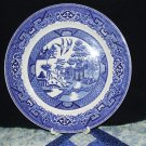 "Blue Willow dinner plate, 9"", Homer Laughlin"