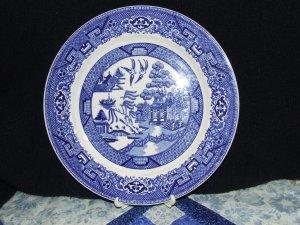 """Blue Willow dinner plate, 9"""", Homer Laughlin"""