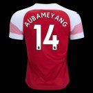 Aubameyang 14 Home Soccer Jersey 2018-19,EPL Men's Stadium Soccer Kit