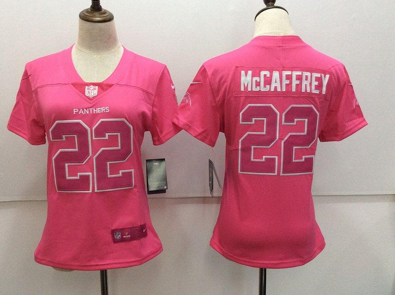 best service 10188 bce98 Women's Panthers Christian McCaffrey 22th Player Jersey Pink ...