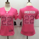 Anderson #22 Women's Broncos Player Jersey Pink Limited Football Top