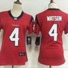 Women's Texans #4 Deshaun Watson Red Player Football Jersey