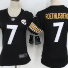 Women's Pittsburgh Steelers Ben Roethlisberger #7 Limited Player Jersey Black