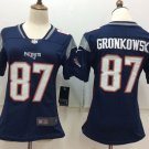 Gronkowski 87th Women's New England Patriots Blue Football Player Jersey