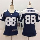 Women's Dallas Cowboys Dez Bryant 88 Navy Blue Football Player Jersey